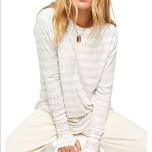 FREE PEOPLE ARDEN STRIPED TEE